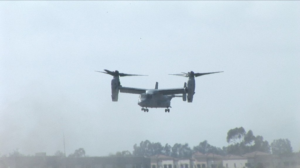 Hovering Osprey soon to accelerate to 320 Kts!